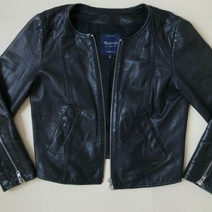 Madewell Leather Jacket Perfectly Worn Small